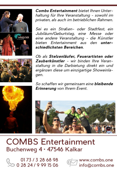 2015-07-25 – Combs Entertainment Flyer & Autogrammkarte HINTEN